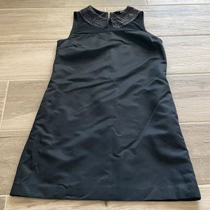 Ted Baker Black laser cut collar Sleeveless dress